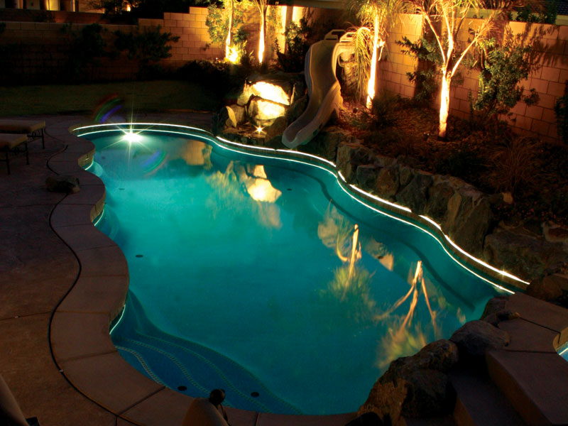 West Coast Fiberglass Pools Swimming Pool Lighting From