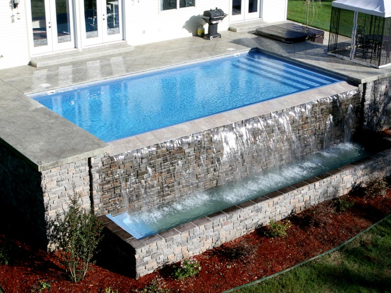West Coast Fiberglass Pools Vanishing Edges For Viking